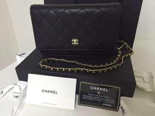 🚚 Chanel黑金荔枝牛皮woc