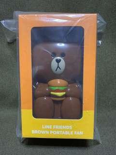 Line Friends - Brown Portable Fan
