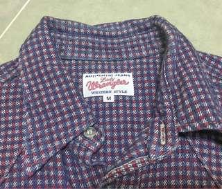 Lady Wrangler Check Shirt  made in japan Size:M