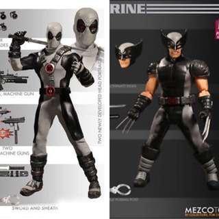 [Sale] Mezco One:12 X-men X-Force Deadpool and Wolverine Lot