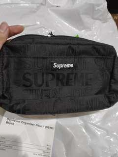 Supreme SS19 pouch bag black new, 100% legit from Stockx