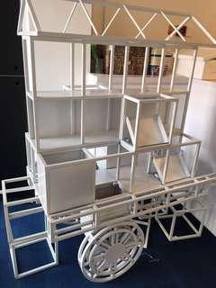 🚚 Display Solid Metal Cart