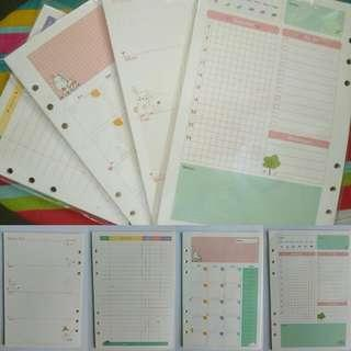 BN 6 holes A5 planners refill