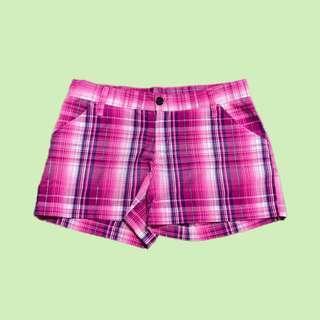 粉紅色格紋短褲 Plaid Shorts