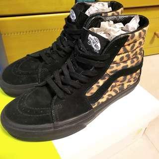 Vans 豹紋高筒鞋