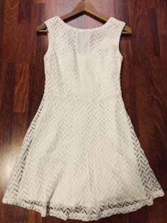 Soft cotton-like lace dress
