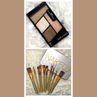 Eyeshadow Quad + Make Up Brushes