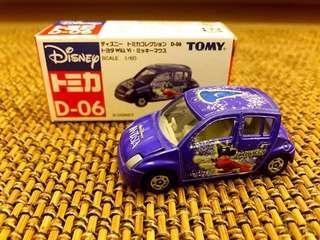 Tomy Tomica D-06 藍字 Mickey Mouse車仔 已絕版