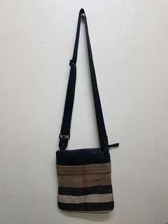 Burberry Nova checkered sling bag