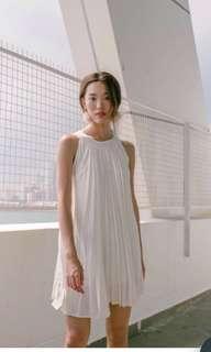 Grey pleated dress