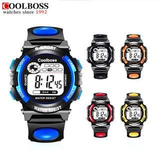Student Waterproof Watch Silicone S Shockproof Electronic Led Digital Kids