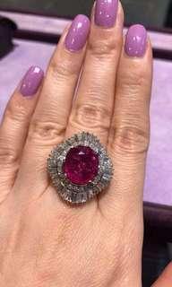 🚚 天然紅寶石戒指