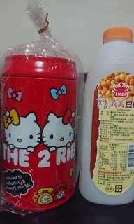 三麗鷗Hello  Kitty鐵製存錢筒