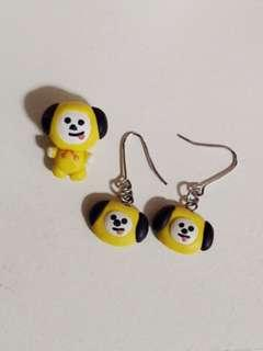 BT21 Earrings and Charms