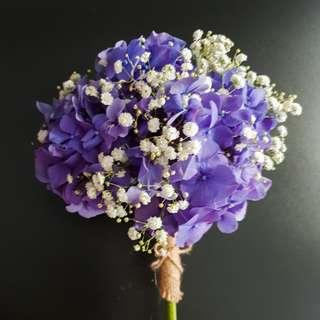 Hydrangea and Baby's Breath Bouquet