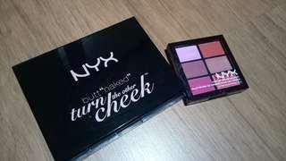 NYX eyeshadow dan lipstick pallete