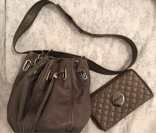 Mimco Bucket Bag and Matching Wallet