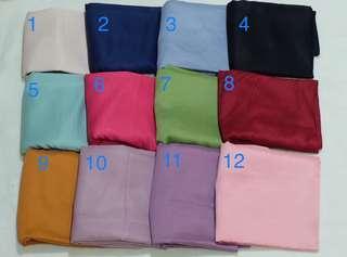 🚚 Plain polycotton shawl