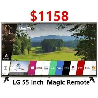 LG 55 inch UHD 4k Smart TV UK6320