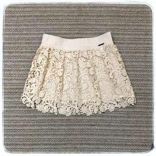 Abercrombie & Fitch AF 100%純棉 蕾花繡雕 浪漫芭比裙