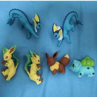 Pokemon Capsule Toy (Eevee, Bulbasaur, Vaporeon, Leafeon