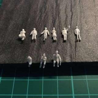 1:150 Architecture White Human Figures for Models