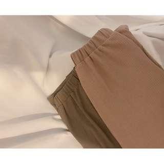 喝水 現貨 銅氨絲細紋顯瘦寬褲 寬褲 銅氨絲 軟料 修飾 顯瘦 夏季 女裝 褲子 下身 韓系