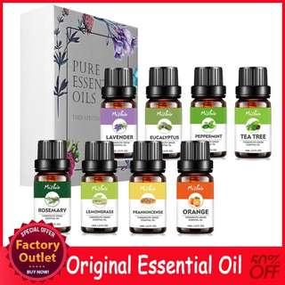 12 Styles 100% Pure Aroma Oil Essential Oil Perfume Fragrance Aromatherapy 10ML