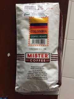Colombia arabica coffee beans 500 grams