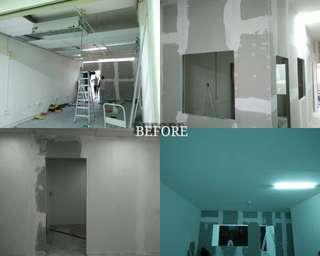Partition Gypsum Board Drywall Plastering Painting Services