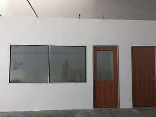 Installing Partition Drywall Services Renovation