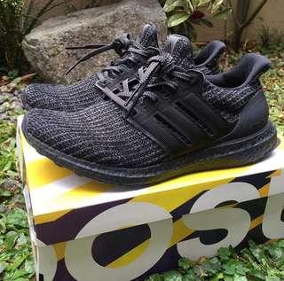 0fcb60f172291 Adidas Ultraboost 4.0 Triple Black