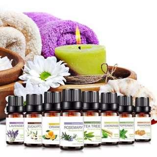 10 Styles 10ml Original Fragrance Aroma Essential Oil Aromatherapy Air Freshener
