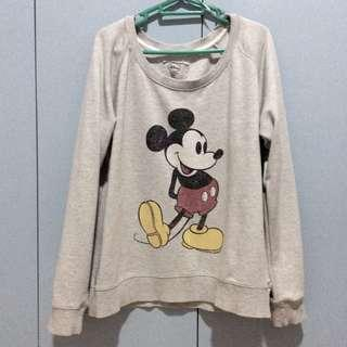 COTTON ON DISNEY MICKEY MOUSE GRAY SWEATER