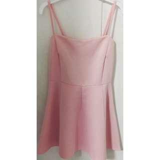 🚚 Baby Pink Skater Flare Dress