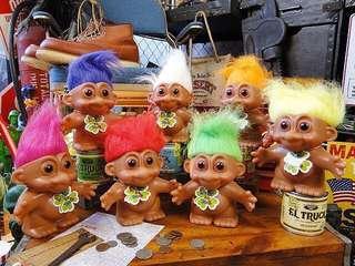 日本購入 Lucky Troll 80s 年代 懷舊 昭 公仔 玩具 娃娃 錢箱 錢罌 丘比 Bb blythe