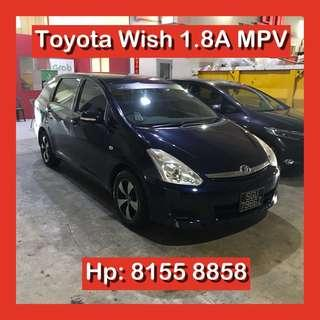 Toyota Wish 1.8 Auto MPV Grab Car Go Jek Rental