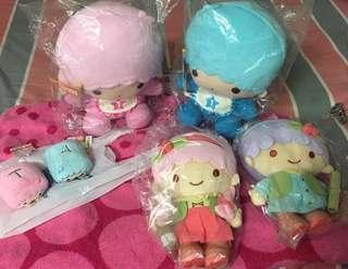BNIP - Sanrio Little Twinstars Plushies - 3 pairs cute n nice plushies