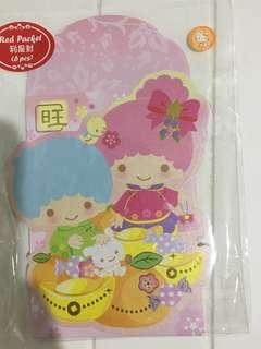 Sanrio Little Twinstar Diecut Mascot Red Packet 6pcs