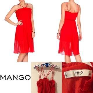 全新Mango紅色細肩帶氣質洋裝 S號 美美美 便宜賣