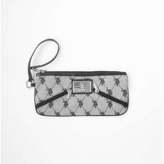 US Polo Light Gray Clutch Bag • Authentic preloved