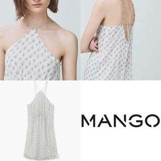 全新 Mango細肩帶氣質碎花洋裝 春天來了~~便宜賣