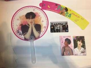 FREE SUGA CUPSLEEVE / FREEBIES / FAN / BTS PVC BANK CARD
