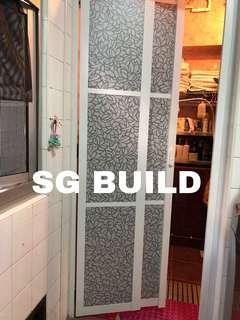 Toilet door slide & swing 🔥Offer