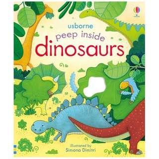 [BN] Usborne- Peep inside dinosaurs