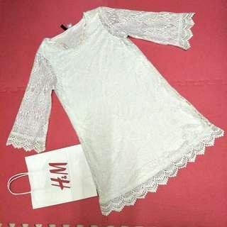 H&M short lacey dress