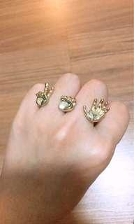 Clearance Paper Scissors Stone rings
