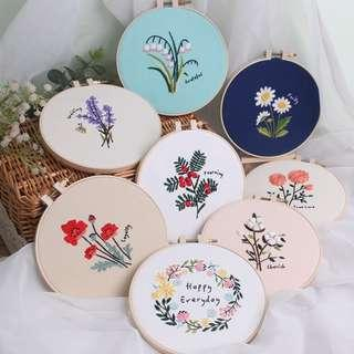 [PO] DIY Flower Embroidery Kit