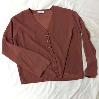 Morgan V neck blouse {Back in stock}
