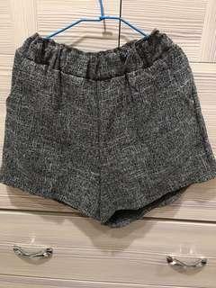 🚚 棉麻灰色鬆緊短褲